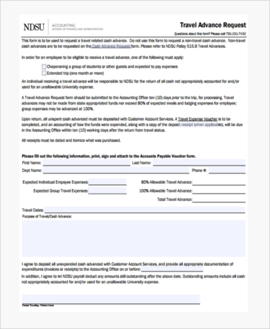 sample travel request forms 9 free documents in pdf