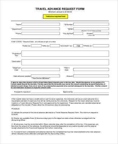 travel advance request form1
