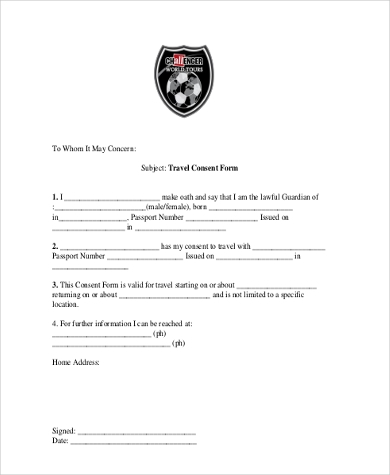 travel consent form pdf