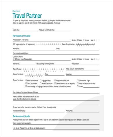 travel insurance partners claim form