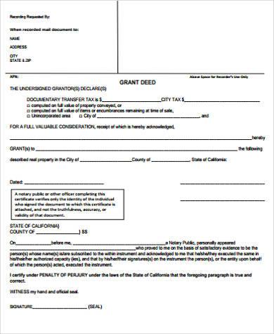trust grant deed form