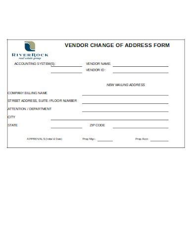 vendor change of address form