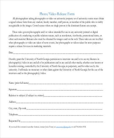 video release form example