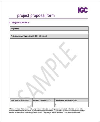 Project Proposal Sample 9 Free Documents In Pdf