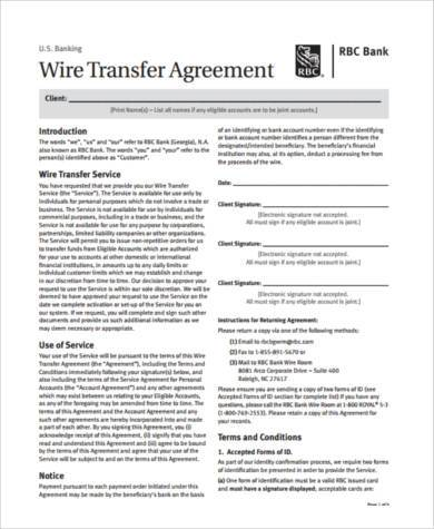 Sample Transfer Agreement Forms   Free Documents In Pdf