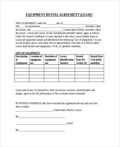 Rental Agreement Letters   Free Documents In Word Pdf