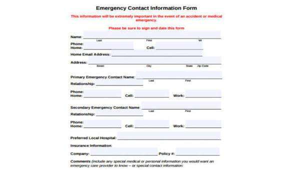 9 contact form samples free documents in pdf