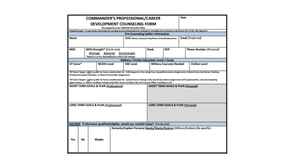Free 8 Sample Developmental Counseling Forms Pdf
