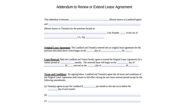 Free 7 Month To Month Lease Forms In Pdf Word