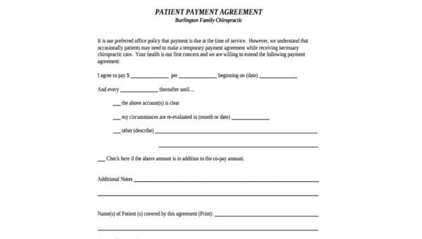 Free 9 Payment Agreement Form Samples Pdf
