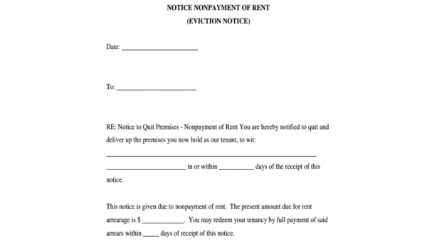 photo relating to Printable Eviction Notice Form referred to as Free of charge 7+ Printable Eviction Consideration Style within just PDF Phrase