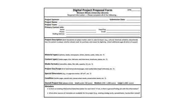 Free 9 Project Proposal Samples In Pdf