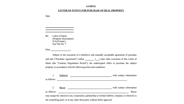 Real Estate Offer Form Sample 8 Free Documents In Pdf