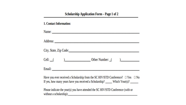 Free 8 Sample Recommendation Letters For Scholarship In Pdf