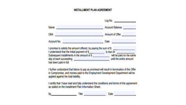 Payment Plan Agreement Template from images.sampleforms.com