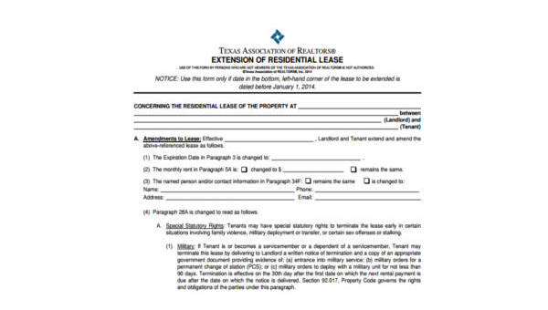 Free 9 Sample Real Estate Lease Forms Pdf