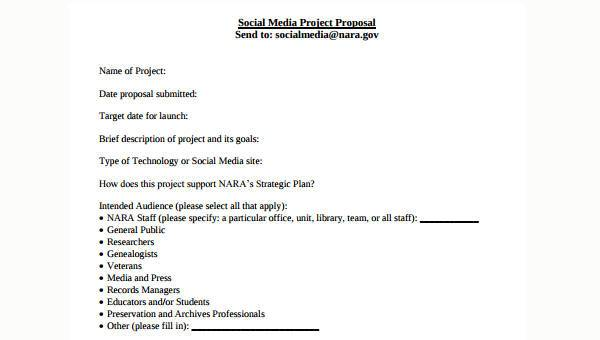 Free 7 Social Media Proposal Forms In Pdf Word