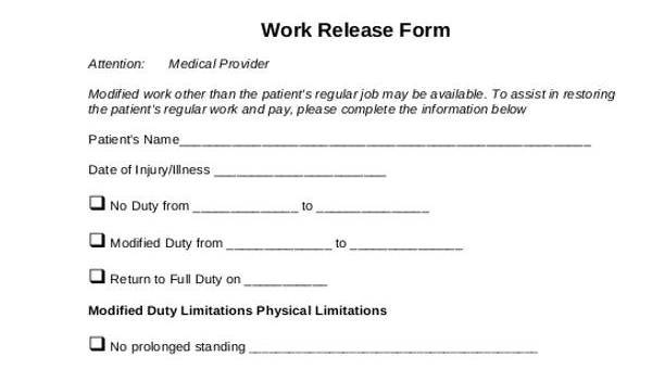 Prty Release Form | Generic Release Forms