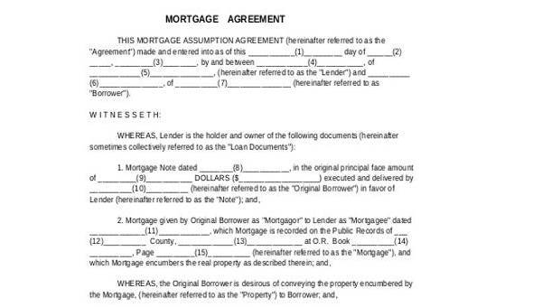 Mortgage Subordination Agreement Sample