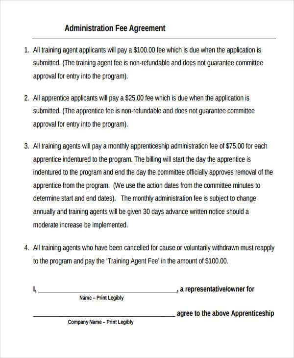 administration agreement form in pdf