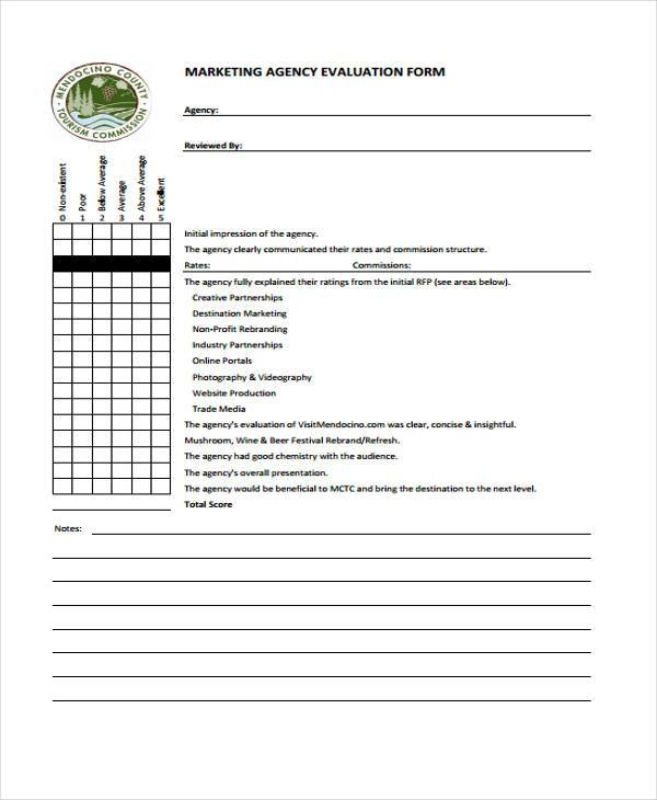 7+ Marketing Evaluation Form Samples - Free Sample, Example Format