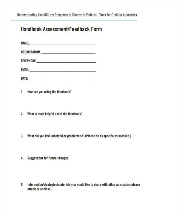 air force feedback form example