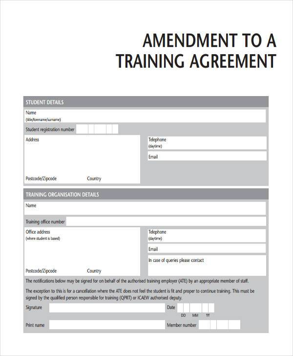 Training Agreement Marketing Service Agreement Service Agreement