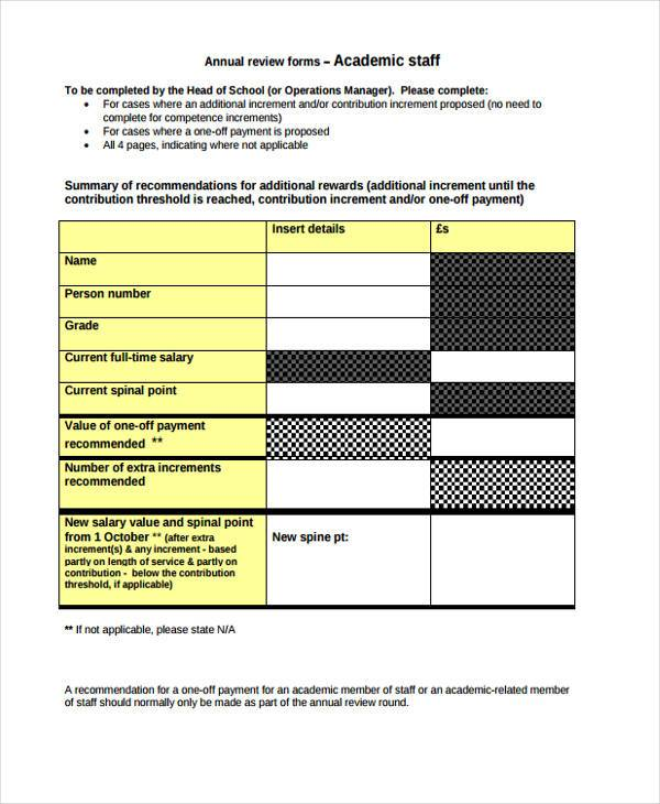 annual review form in pdf