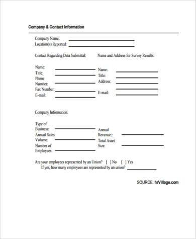 annual salary survey form