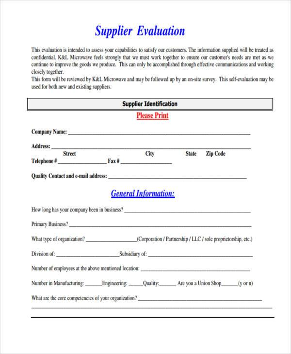 annual supplier evaluation form1