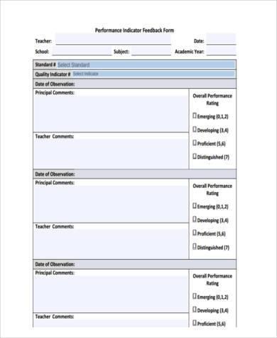 appraisal feedback form in pdf