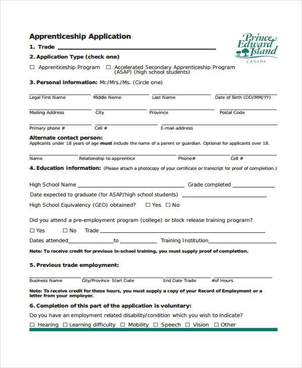 7 apprenticeship agreement form samples free sample for Apprenticeship contract template