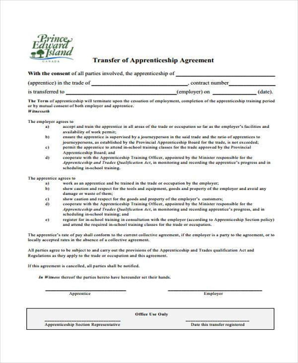 7+ Apprenticeship Agreement Form Samples - Free Sample, Example