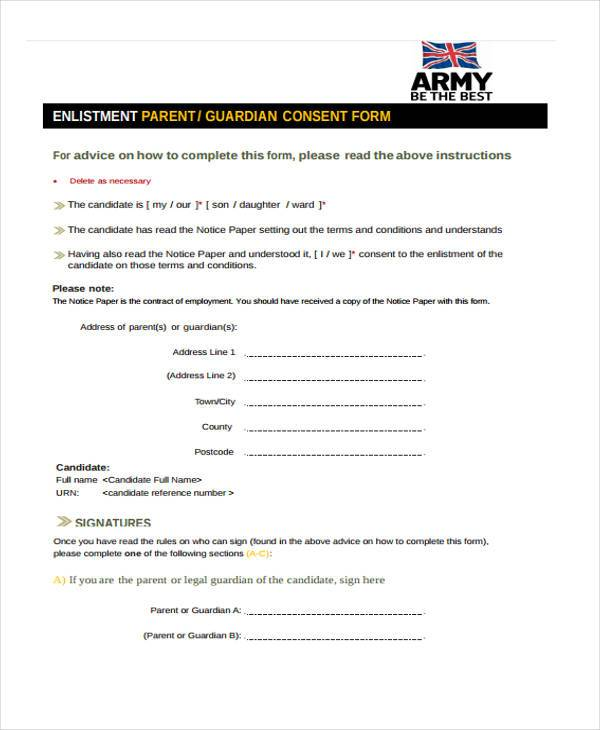army parental consent form1