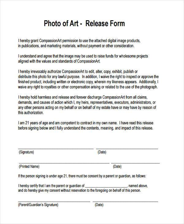 artwork photo release form1