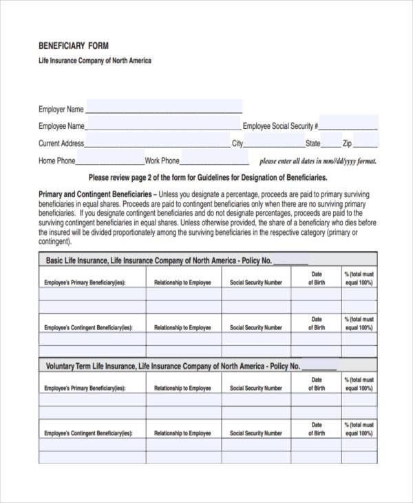basic beneficiary release form