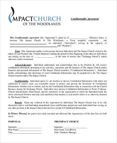 basic confidentiality agreement form pdf