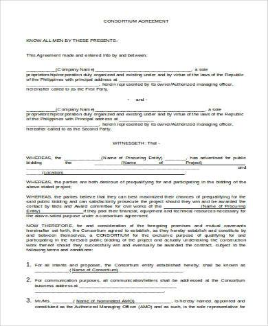Basic Agreement Form Samples   Free Documents In Word Pdf