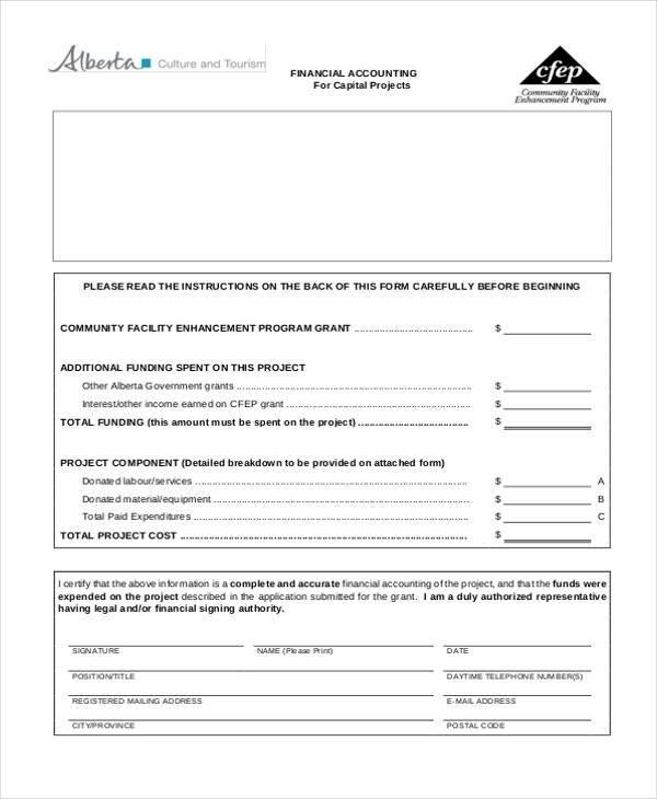 basic financial accounting form