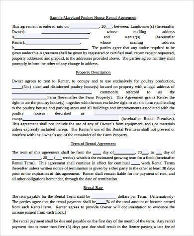 House Rental Contract Samples   Free Documents In Word Pdf