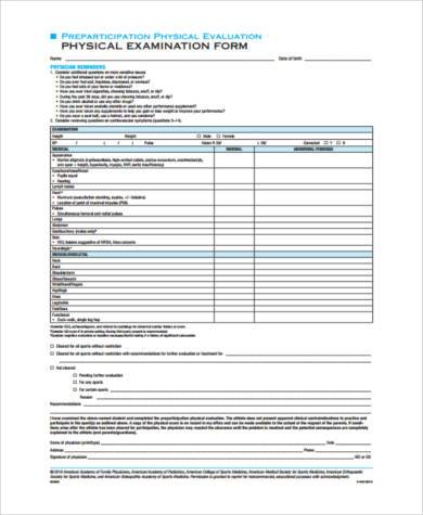 8+ Physical Form Samples - Free Sample, Example, Format Download