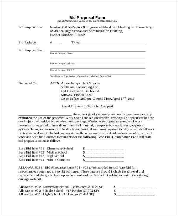 Sample Cleaning Proposal Template Commercial Property Management