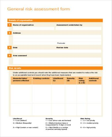 blank generic risk assessment form2