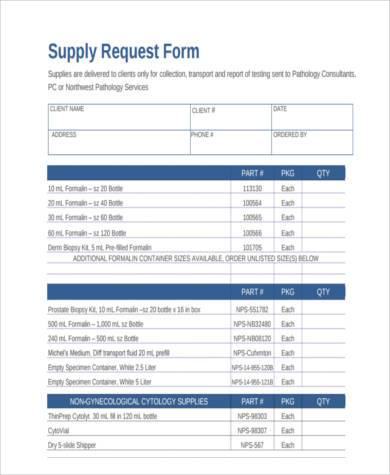 Sample Supply Request Forms - 9+ Free Documents In Word, Pdf