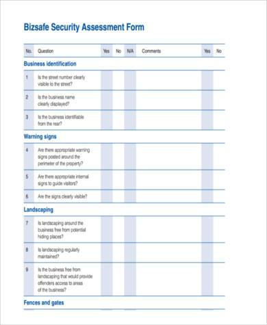 Sample Business Assessment Forms - 9+ Free Documents In Word, Pdf