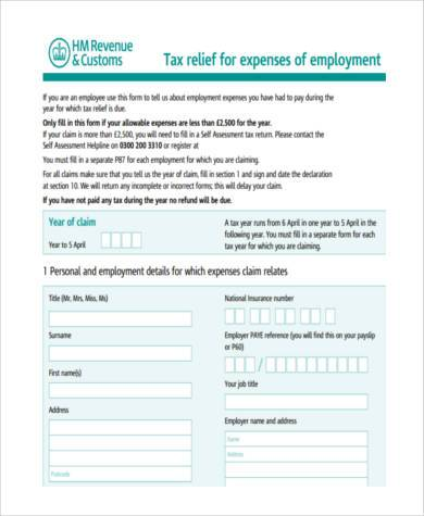 business mileage self assessment form