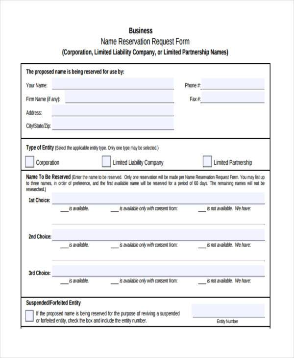 business name consent form