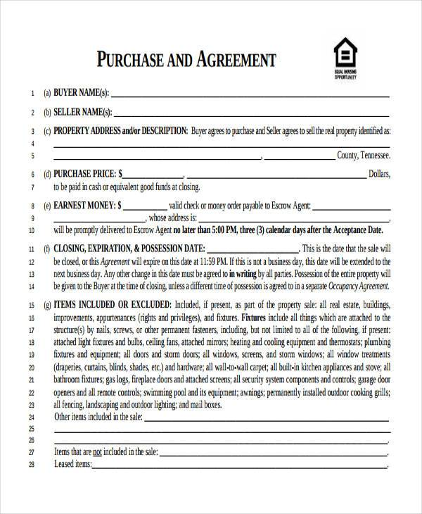 7 Business Purchase Agreement Form Samples Free Sample Example – Free Business Purchase Agreement