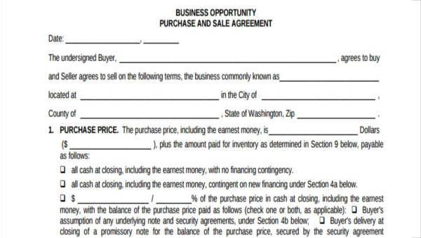 7 business purchase agreement form samples free sample example 7 business purchase agreement form samples flashek Gallery