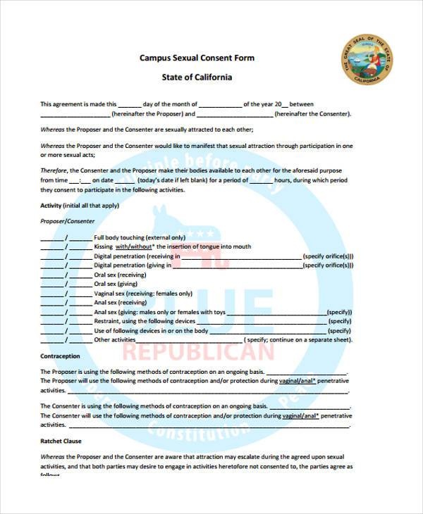 campus sexual consent form